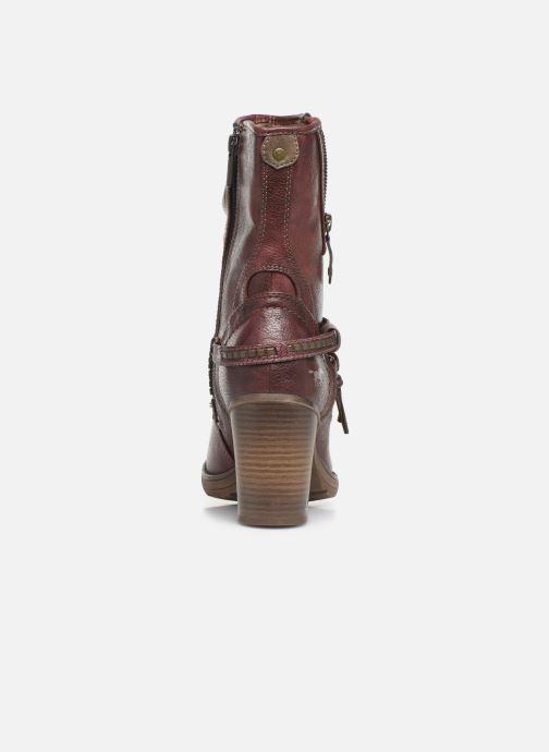 Bottines et boots Mustang shoes Colza Bordeaux vue droite