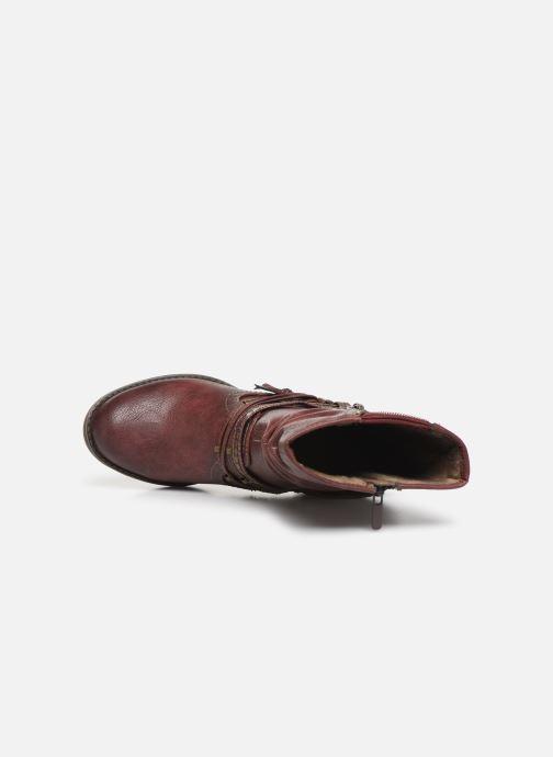 Bottines et boots Mustang shoes Colza Bordeaux vue gauche
