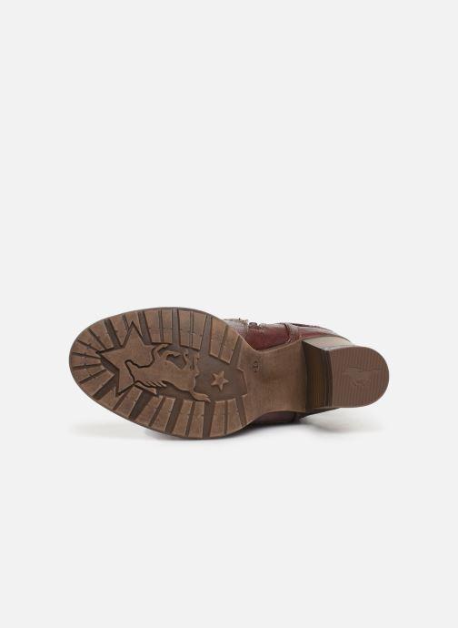 Bottines et boots Mustang shoes Colza Bordeaux vue haut