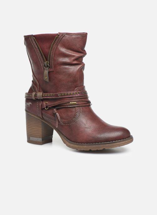 Bottines et boots Mustang shoes Colza Bordeaux vue détail/paire
