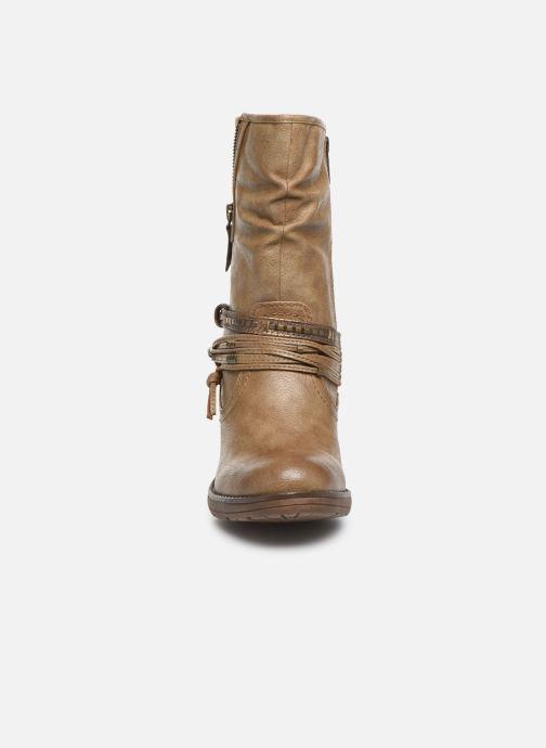 Bottines et boots Mustang shoes Colza Marron vue portées chaussures