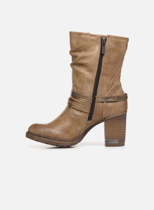 Ankle boots Mustang shoes Colza Brown front view