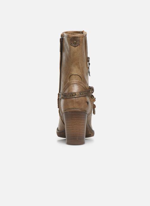 Bottines et boots Mustang shoes Colza Marron vue droite