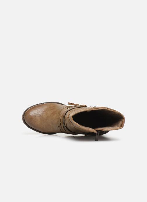 Boots en enkellaarsjes Mustang shoes Colza Bruin links