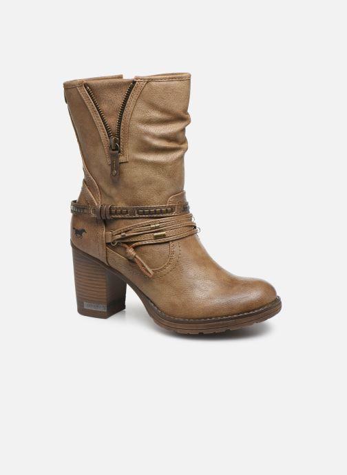 Bottines et boots Mustang shoes Colza Marron vue détail/paire