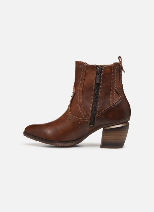 Ankle boots Mustang shoes Clairis Brown front view