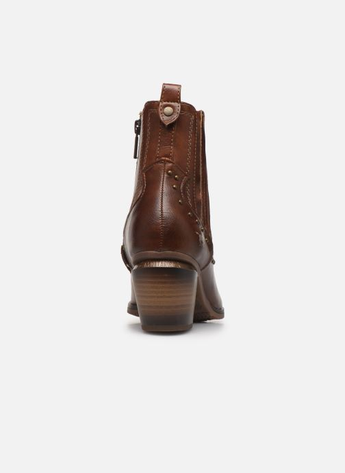 Ankle boots Mustang shoes Clairis Brown view from the right