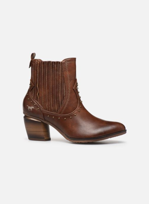 Ankle boots Mustang shoes Clairis Brown back view