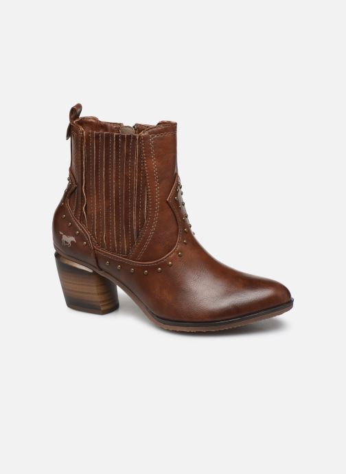 Ankle boots Mustang shoes Clairis Brown detailed view/ Pair view