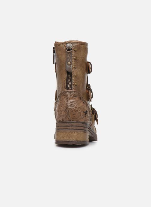 Boots en enkellaarsjes Mustang shoes Lusim Bruin rechts