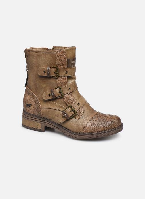 Boots en enkellaarsjes Mustang shoes Lusim Bruin detail