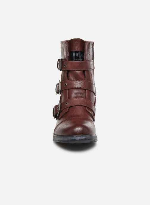 Bottines et boots Mustang shoes Lusim Bordeaux vue portées chaussures