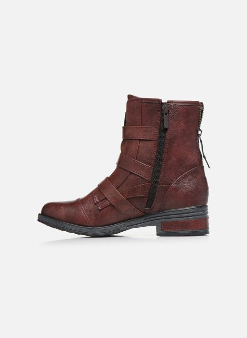 Ankle boots Mustang shoes Lusim Burgundy front view