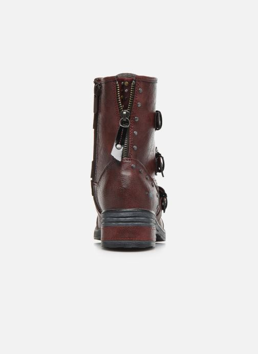 Ankle boots Mustang shoes Lusim Burgundy view from the right