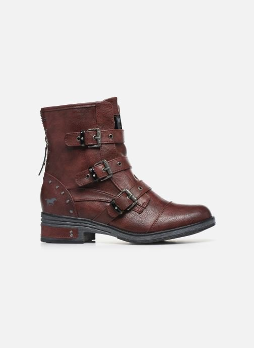 Ankle boots Mustang shoes Lusim Burgundy back view