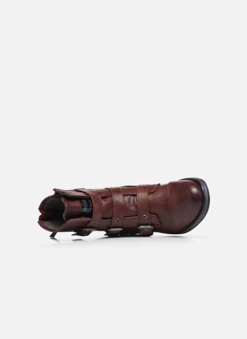 Bottines et boots Mustang shoes Lusim Bordeaux vue gauche