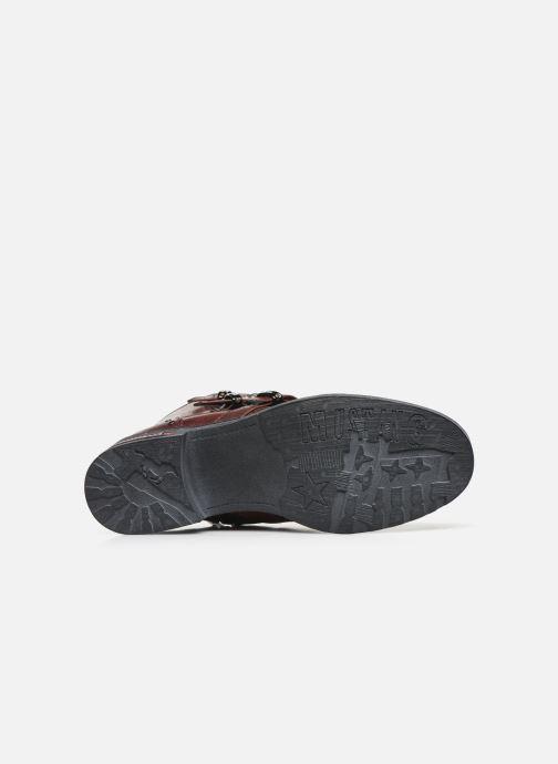 Bottines et boots Mustang shoes Lusim Bordeaux vue haut