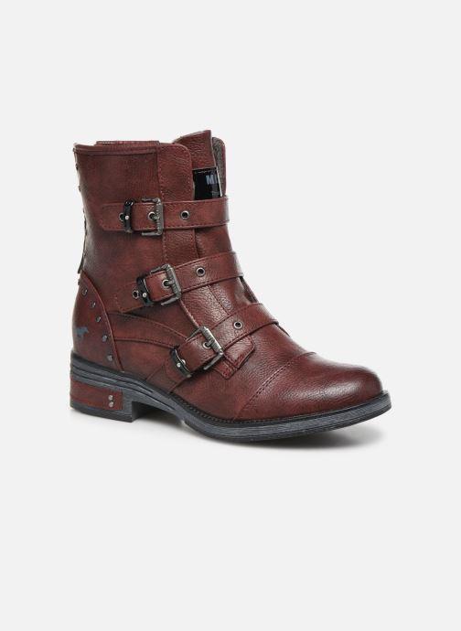 Bottines et boots Mustang shoes Lusim Bordeaux vue détail/paire