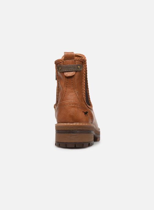 Ankle boots Mustang shoes Nol Brown view from the right
