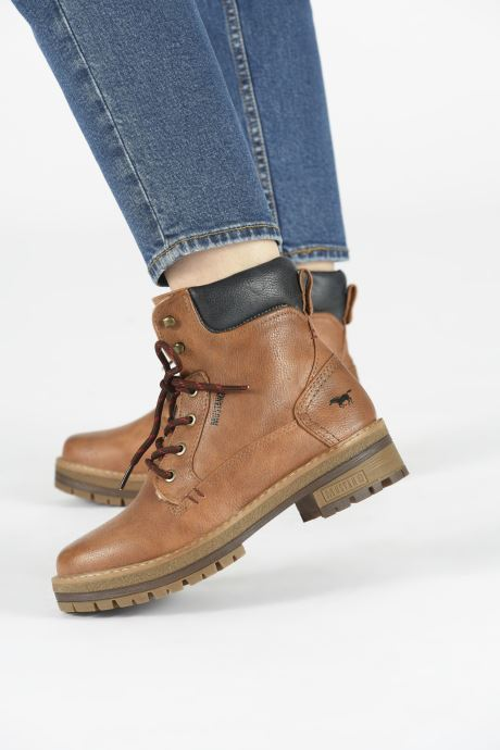 Ankle boots Mustang shoes Aymar Brown view from underneath / model view
