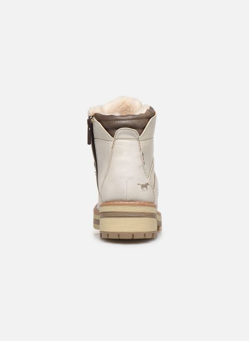 Ankle boots Mustang shoes Ahmza Beige view from the right