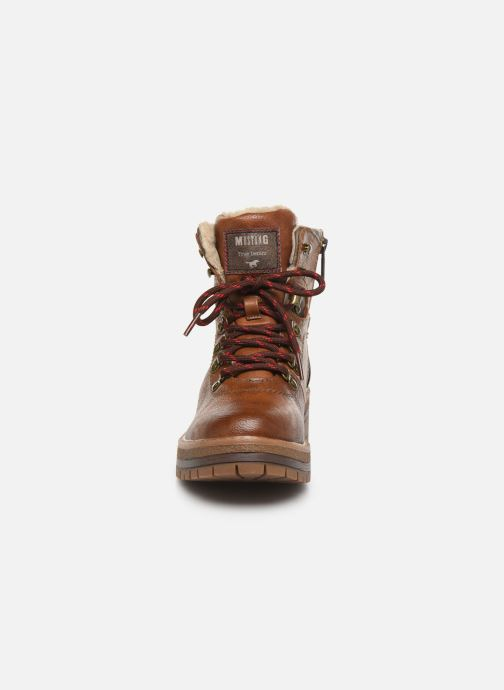 Ankle boots Mustang shoes Jaram Brown model view