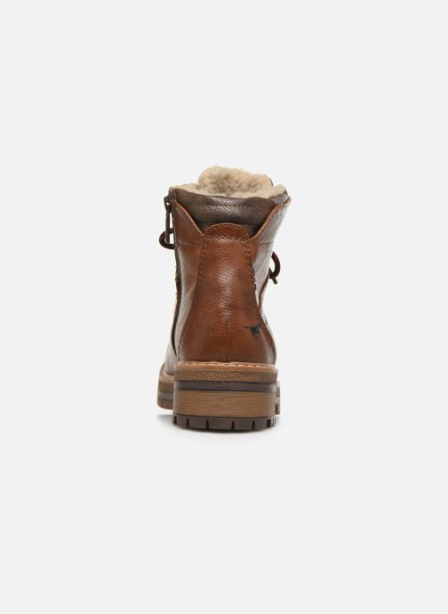 Ankle boots Mustang shoes Jaram Brown view from the right