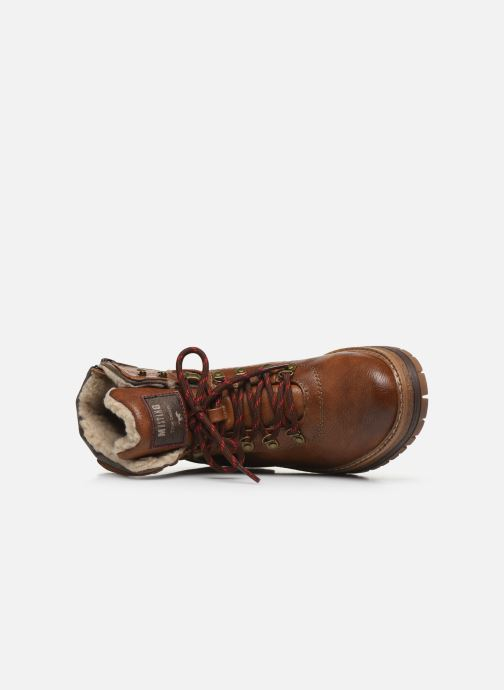 Ankle boots Mustang shoes Jaram Brown view from the left