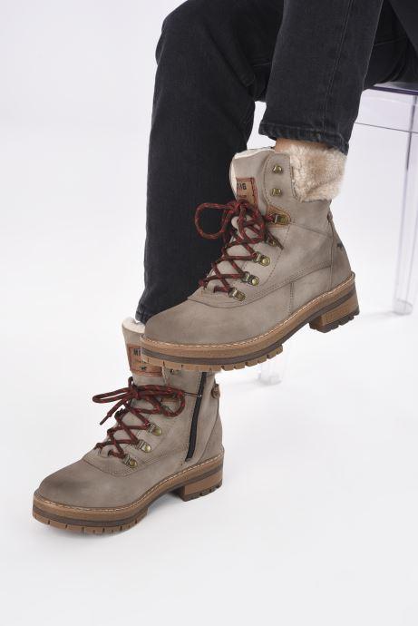 Bottines et boots Mustang shoes Célya Gris vue bas / vue portée sac