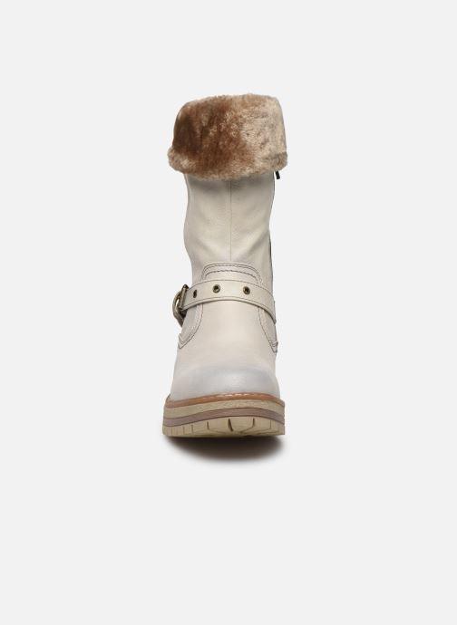 Bottes Mustang shoes Charlise Gris vue portées chaussures