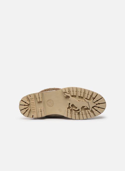 Stiefeletten & Boots Mustang shoes Charlise grau ansicht von oben