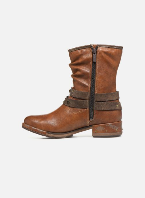Bottines et boots Mustang shoes Eliess Marron vue face