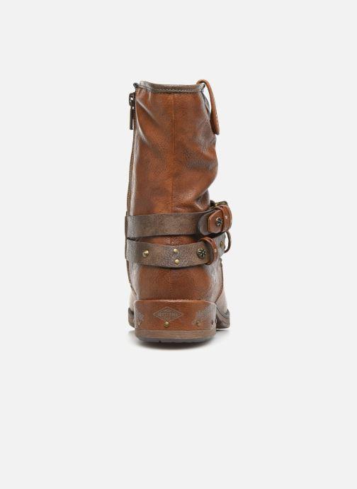 Bottines et boots Mustang shoes Eliess Marron vue droite
