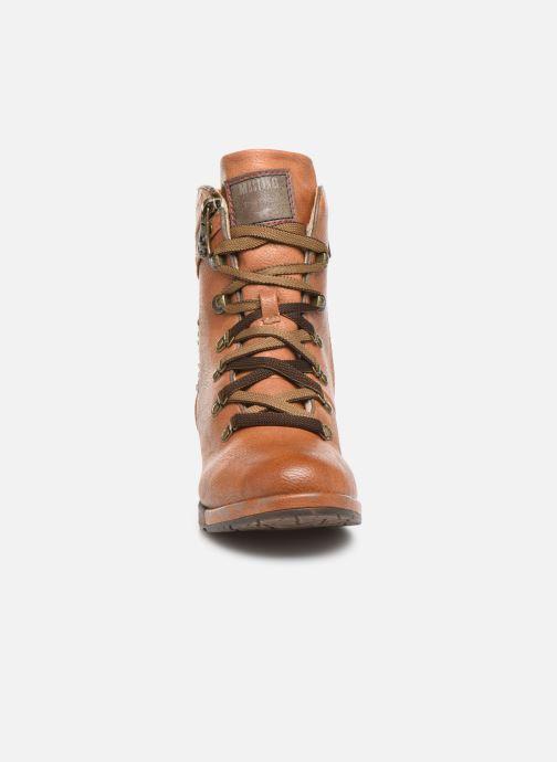 Bottines et boots Mustang shoes Gurwann Marron vue portées chaussures