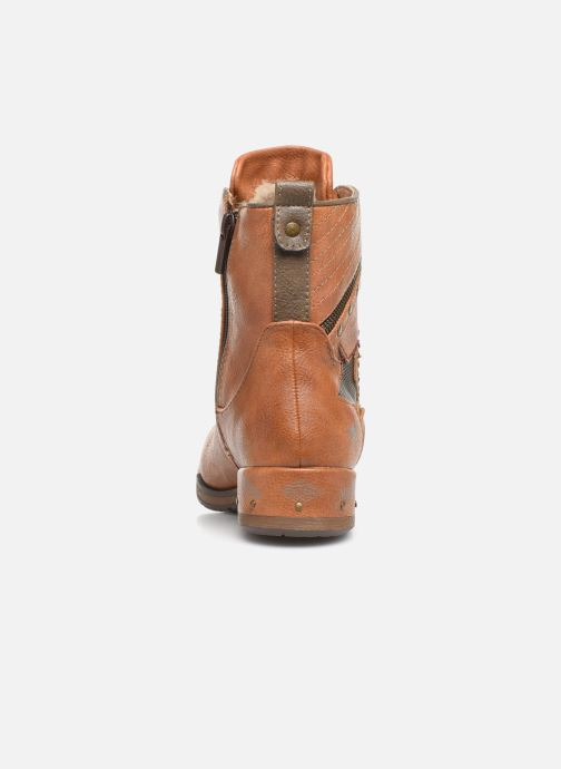 Ankle boots Mustang shoes Gurwann Brown view from the right