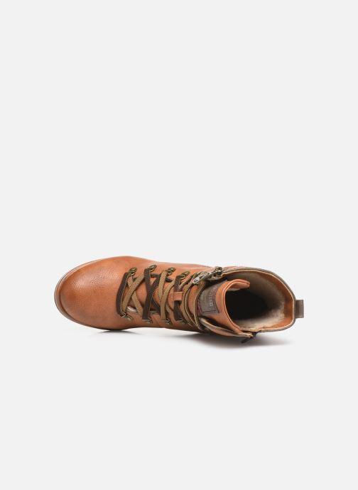 Boots en enkellaarsjes Mustang shoes Gurwann Bruin links