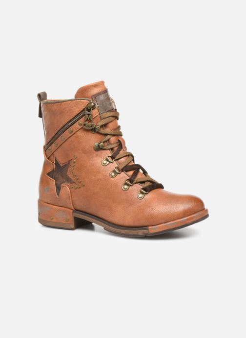 Ankle boots Mustang shoes Gurwann Brown detailed view/ Pair view