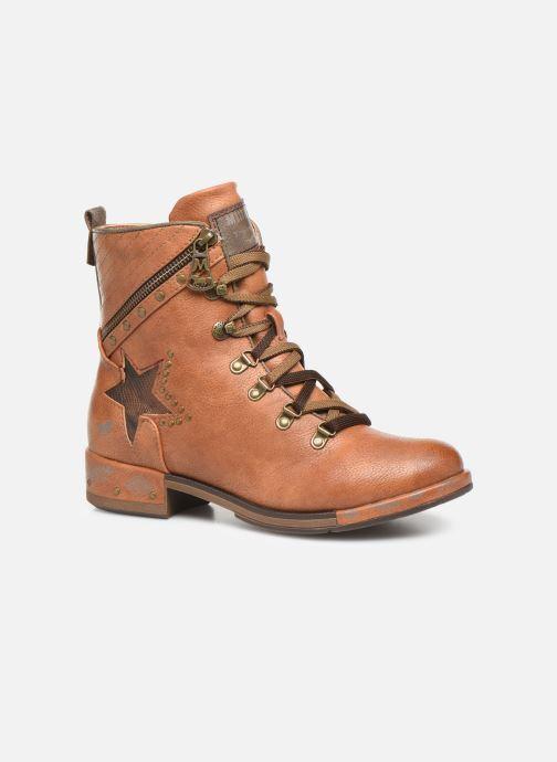 Boots en enkellaarsjes Mustang shoes Gurwann Bruin detail