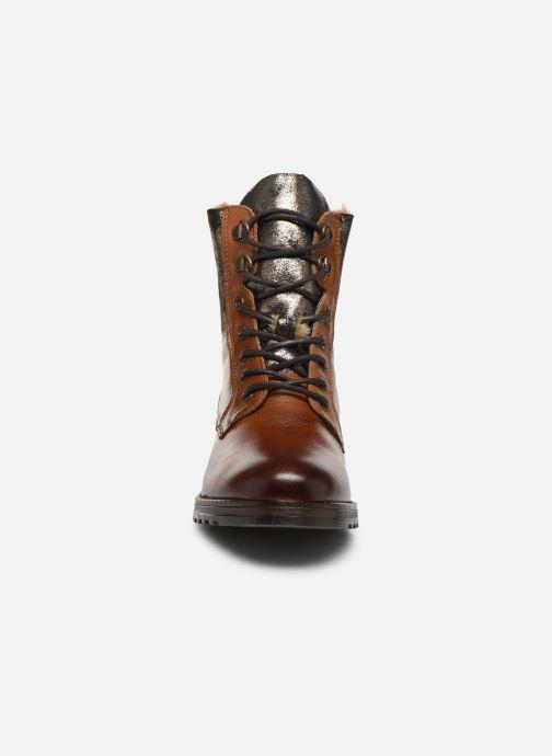 Bottines et boots Mustang shoes Loélia Marron vue portées chaussures