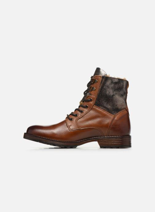 Bottines et boots Mustang shoes Loélia Marron vue face