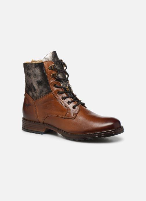 Bottines et boots Mustang shoes Loélia Marron vue détail/paire