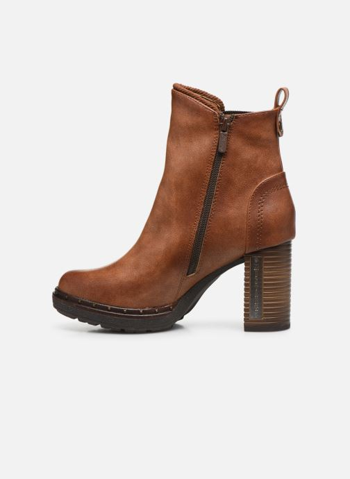 Ankle boots Mustang shoes Giulia Brown front view