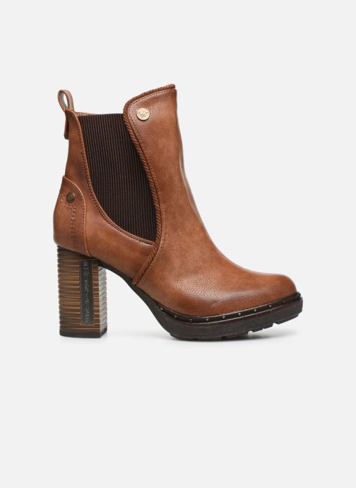 Ankle boots Mustang shoes Giulia Brown back view