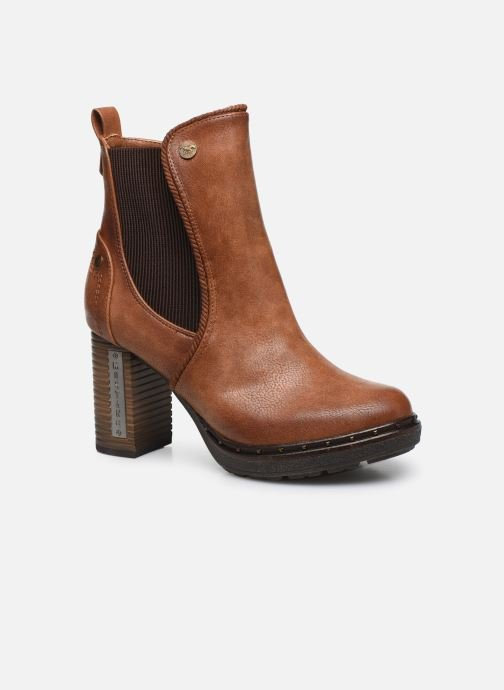 Ankle boots Mustang shoes Giulia Brown detailed view/ Pair view