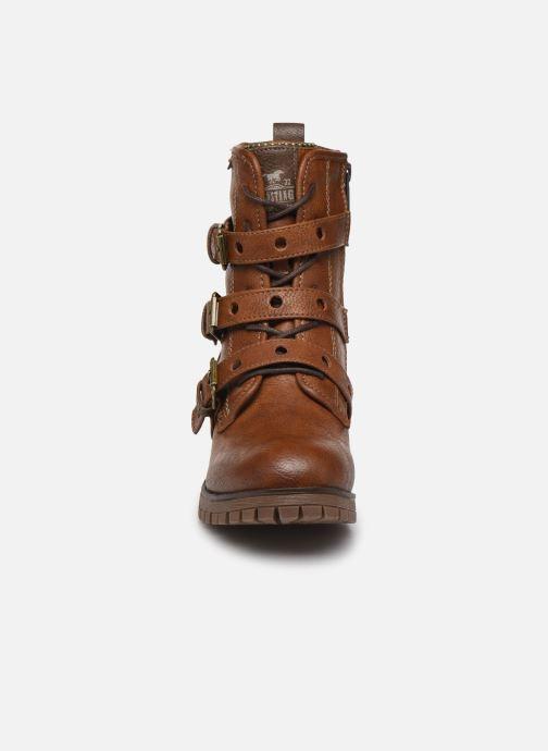 Bottines et boots Mustang shoes Mauvu Marron vue portées chaussures
