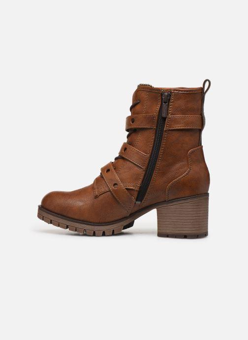 Bottines et boots Mustang shoes Mauvu Marron vue face