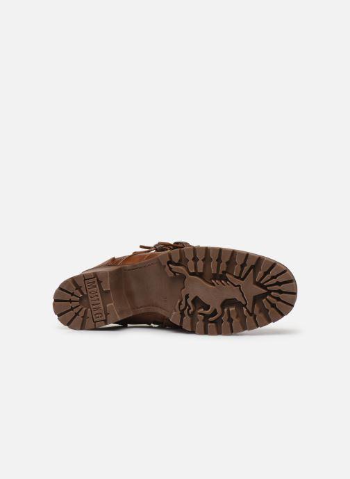 Bottines et boots Mustang shoes Mauvu Marron vue haut