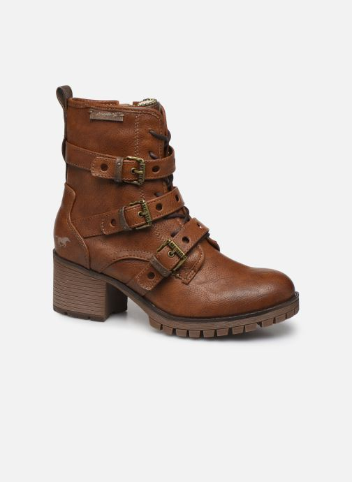 Bottines et boots Mustang shoes Mauvu Marron vue détail/paire