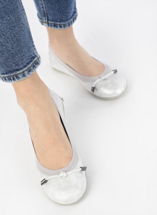 Ballerinas LPB -LES PETITES BOMBES AVA silber ansicht von unten / tasche getragen