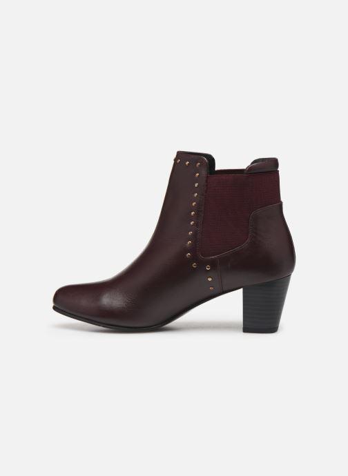 Ankle boots Pédiconfort Flora C Burgundy front view
